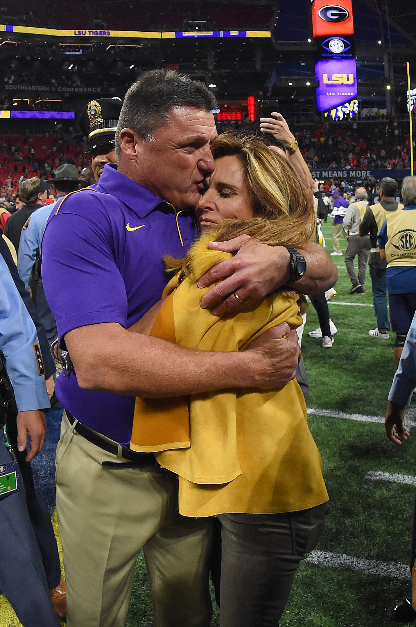 LSU football coach Ed Orgeron files for divorce from his wife of 23 years, Kelly
