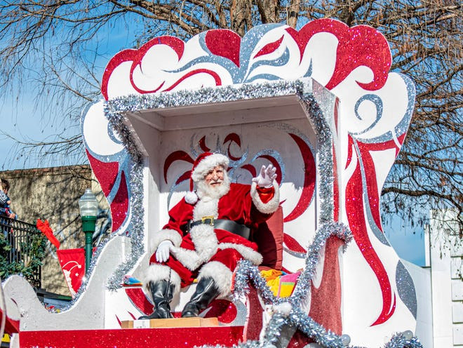 The Sonic Christmas Parade rolls through Downtown Lafayette Sunday, Dec. 8, 2019.