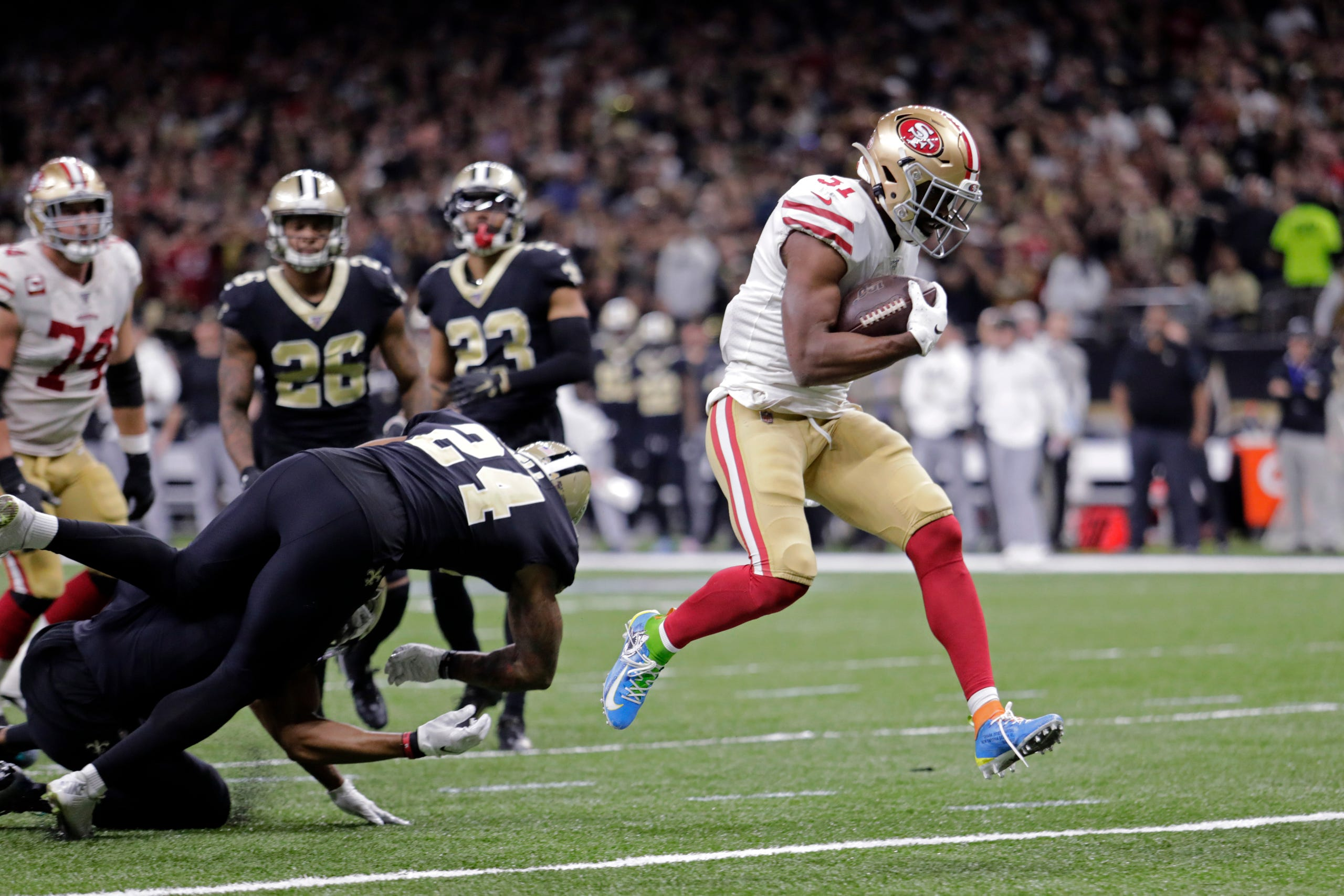A Look At The New Orleans Saints Vs The San Francisco 49ers