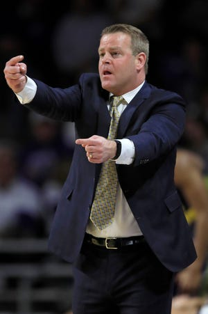 Steve Wojciechowski coaches Marquette during a game against Kansas State last season. The matchup was part of the Big East-Big 12 Battle.