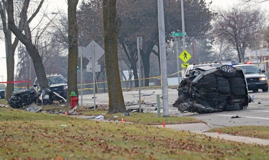 A 28-year-old man died when the vehicle he was driving crashed during a police chase early Sunday morning.