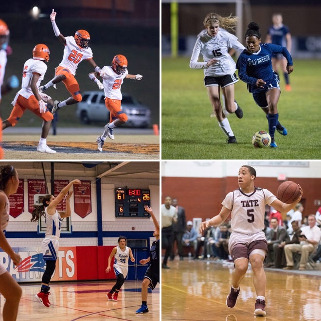 The Escambia defense, Gulf Breeze's Mya Swinton, Pace's Makayla Michael and Tate's Dennis Brown Jr. are among the nominees for the latest Athlete of the Week poll.