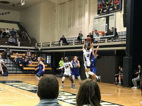 Air Force beat Nevada, 68-61 in a Mountain west Conference women's basketball game at the Virginia Street Gym on Saturday.