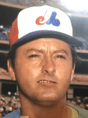 John Strohmayer when he pitched for the Montreal Expos, from the Strohmayer family's scrapbook.