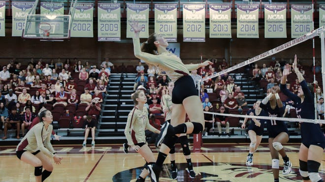 FSU's volleyball season ended with a 3-2 loss to UCF.