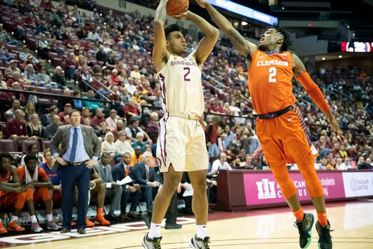 FSU sophomore Anthony Polite had a career-high 12 points in the Seminoles' win over Clemson Sunday afternoon.