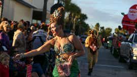 Fort Pierce residents light up downtown with parade, festival