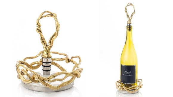 Best gifts for wine lovers 2019: Michael Aram Wisteria coaster and wine stopper