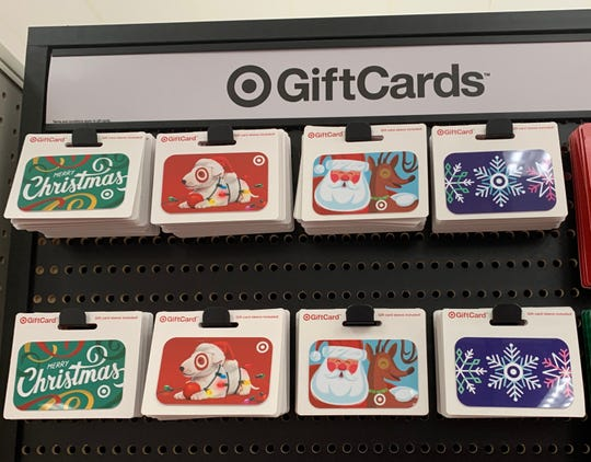 Target has a selection of holiday gift cards.