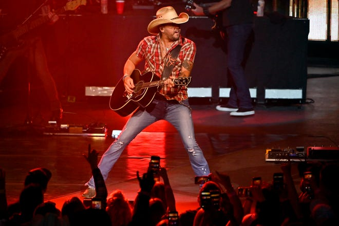 """Jason Aldean won the CMA award for Album of the Year in 2011. His 2014 album """"Old Boots, New Dirt"""" was certified platinum. He's a part owner of hunting company Buck Commander."""