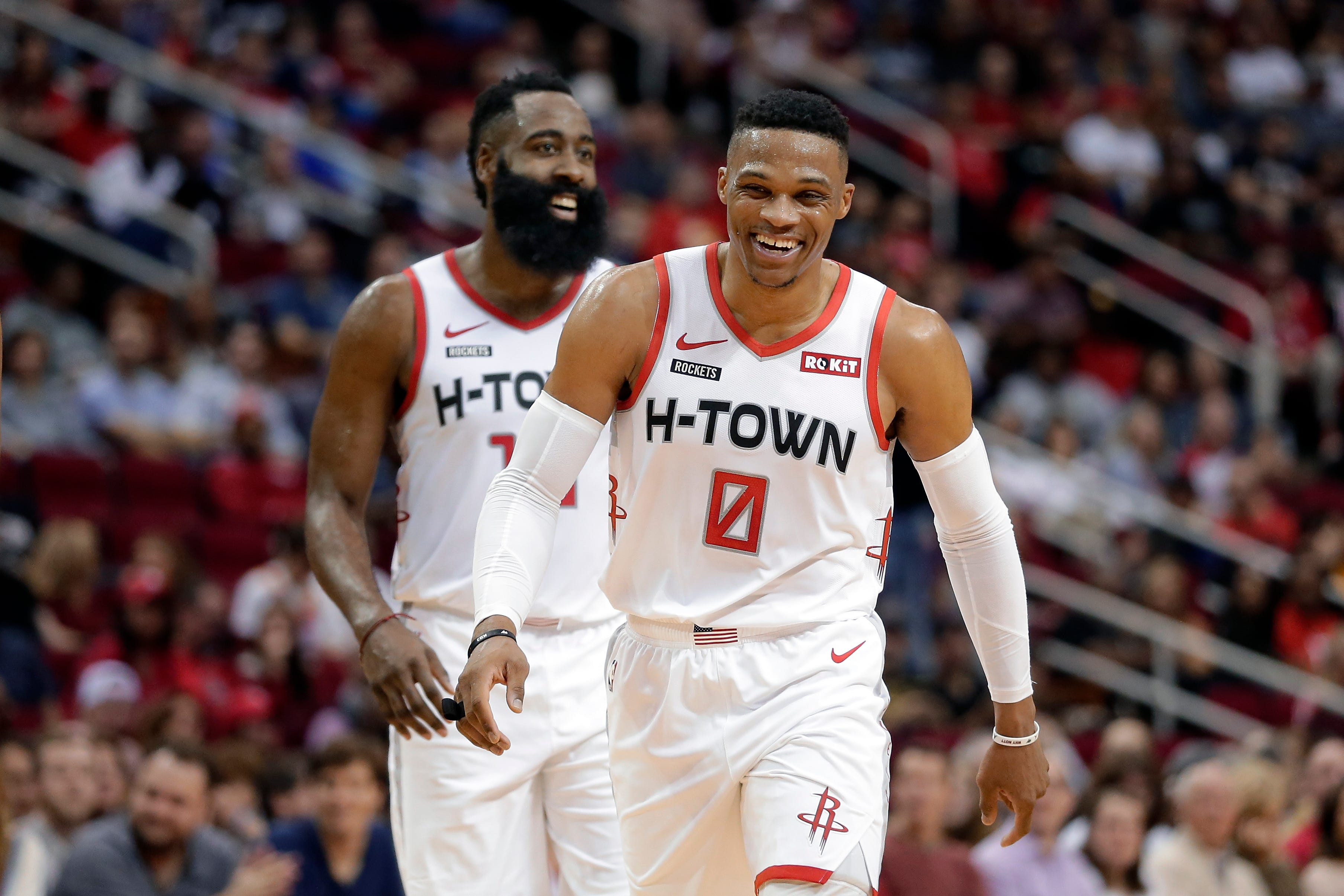 James Harden: Russell Westbrook's adjustment with Rockets might take 'whole year'