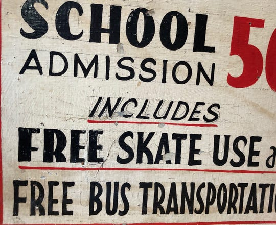 A sign from the Belvedere pool and skating rink in Keansburg.