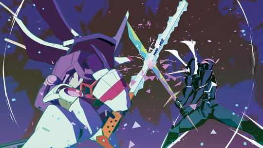 "A scene from Studio TRIGGER'S ""Promare,"" directed by Hiroyuki Imaishi and released by GKIDS."