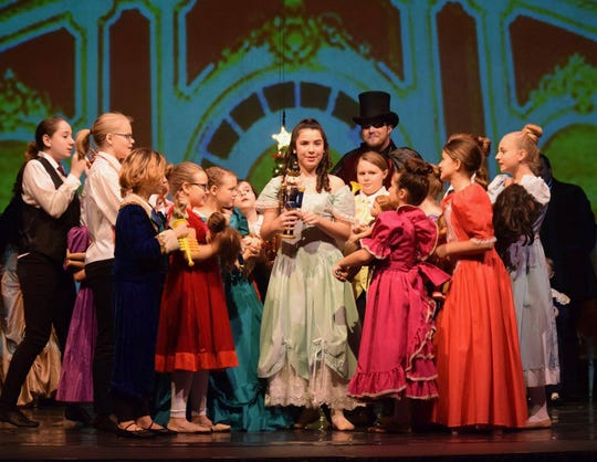 "Lucia Foti starres as Clara, and Matt Gaska was Herr Drosselmeyer in the Endicott Performing Arts Center's 2018 production of ""The Nutcracker."""