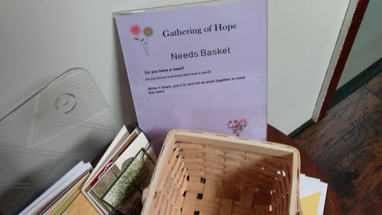 The Needs Basket at Gathering of Hope.