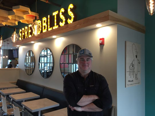 Bliss Bee owner Jed Davis stands in the South Burlington restaurant Dec. 9, 2019.