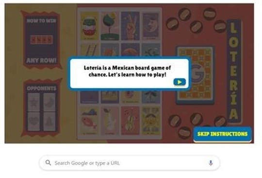 Loteria! Google is celebrating a traditional Mexican game with an interactive Doodle on its search page.