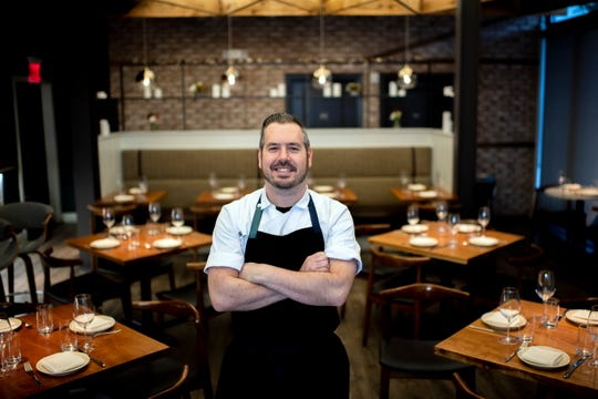 Hearthside executive chef and co-owner Dominic Piperno in the dining room of the Collingswood BYOB.