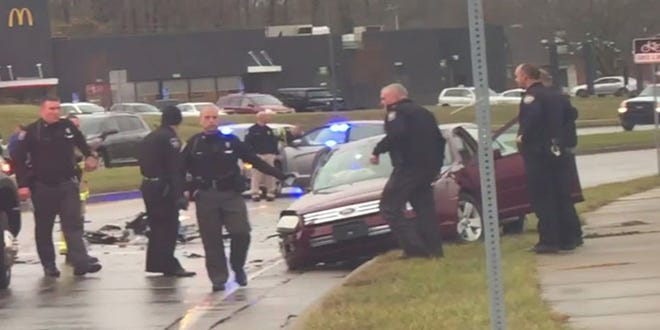 One driver was arrested Monday morning on felony warrants after he led Kenton County police on a pursuit and then crash his car.