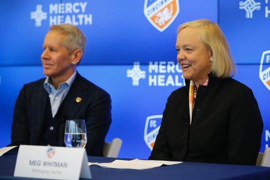 Meg Whitman, FC Cincinnati's newest owner, says the soccer club is a 'tech business'