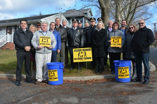 Local officials last week kicked off the Slow Down in Our Town speed reduction program in Milltown and South Amboy.