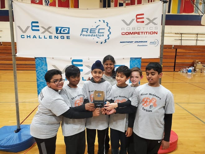 Thomas Edison EnergySmart Charter School, Star Hunters team, won first place in the VEX IQ tournament.
