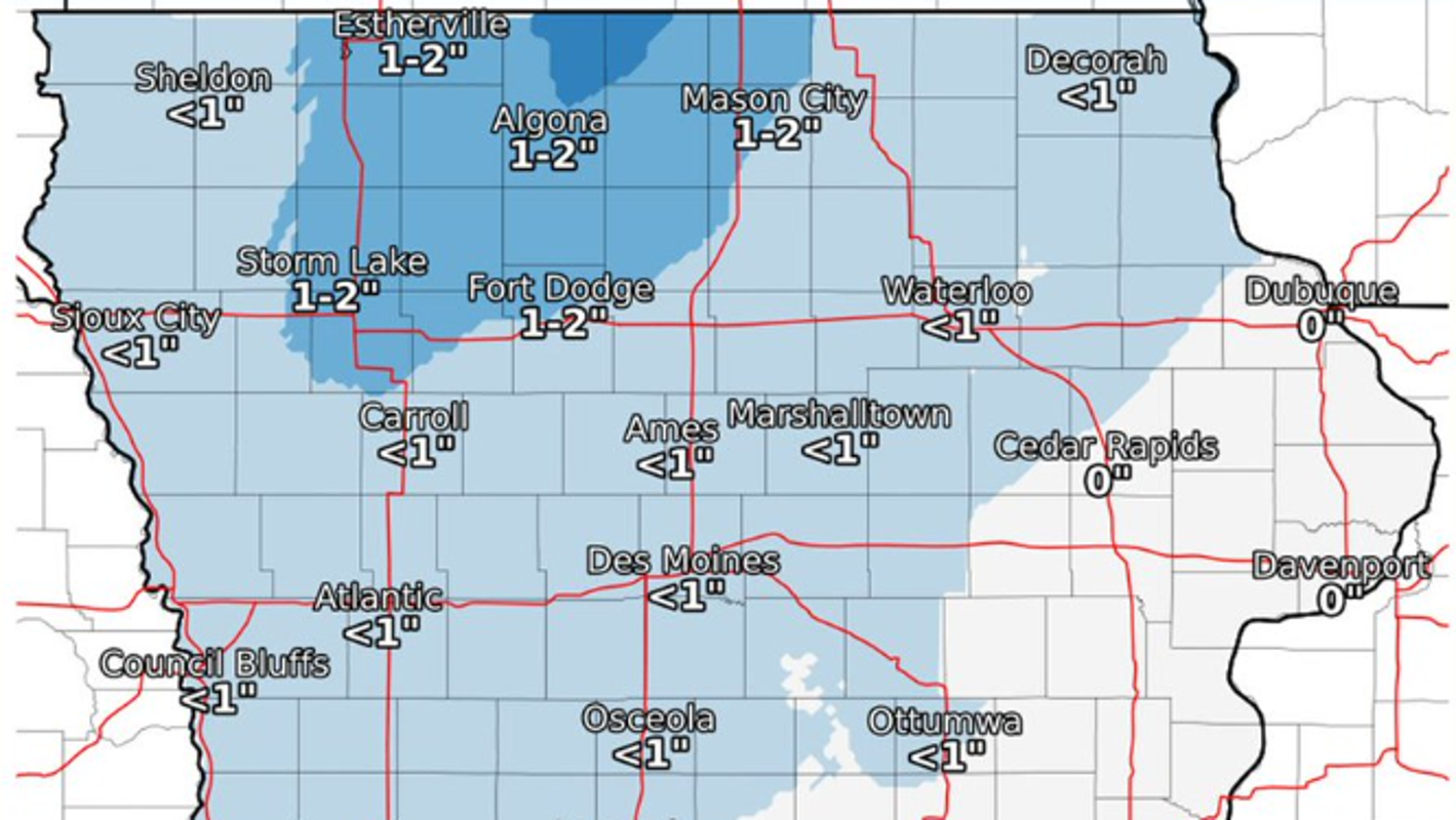 Snow, strong winds, colder temperatures expected to hit metro Des Moines