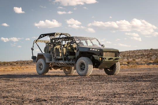 GM Defense Infantry Squad Vehicle at its Proving Grounds in Yuma, AZ