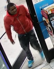 The suspect, described as 6 feet tall, 190 pounds, with short black hair, robbed an 86-year old man Dec 4.