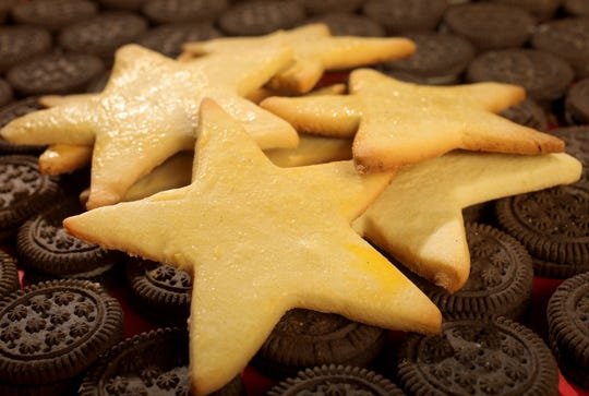 Christmas cookies from around the world, like these Mailanderli, are photographed on Wednesday, Nov. 20, 2019, in the Post-Dispatch studio.