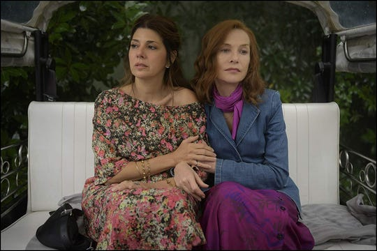 "Marisa Tomei and Isabelle Huppert in ""Frankie."""