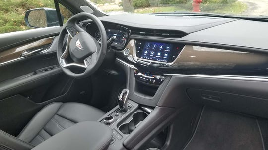 The interior of the 2020 Cadillac XT6 doesn't have a premium wow factor -but features easy-to-use touchscreen and nice materials.