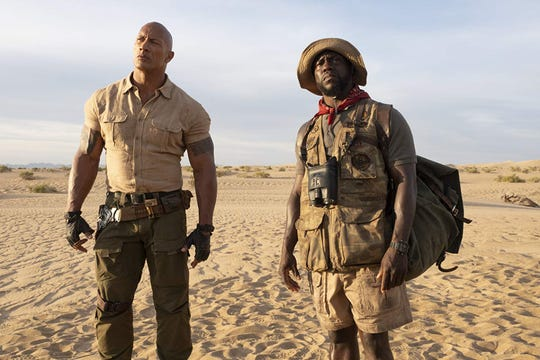 "Dwayne Johnson and Kevin Hart in ""Jumanji: The Next Level."""