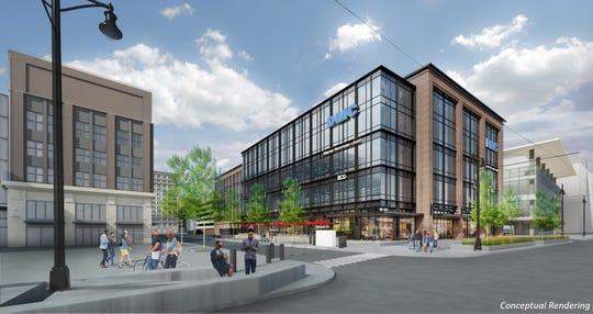 A rendering of the building at 2715 Woodward Avenue.