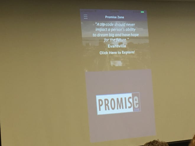 The title image of the Evansville Promise Zone's new app.