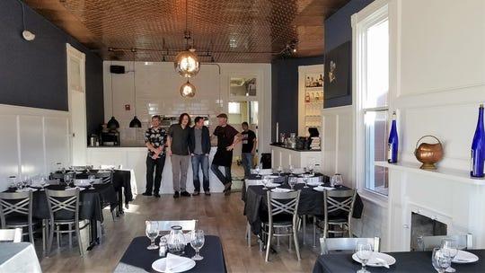 Schymik's Kitchen staff, from left: manager Reid Small, chef Brent Jarvis, chef/owner Scott Schymik, chef Everett Hale, line cook Jeremy Gunn.