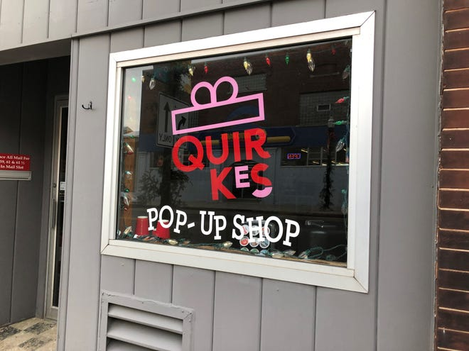 "The name Quirkes comes from owners Ali Gani and Amber Norenberg's love of ""quirky art."" The store is open through the holiday season at 59 N. Main St."
