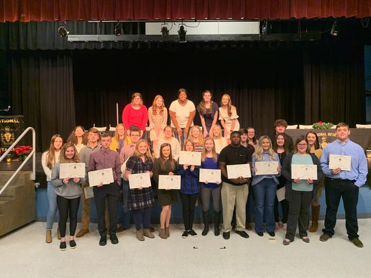 Thirty-five students were newly inducted into the National Beta Club on December 2, 2019 at UCHS.
