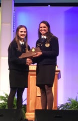 Alyssa Tripp was honored at Murray State University as MSU regional FFA All Stars.