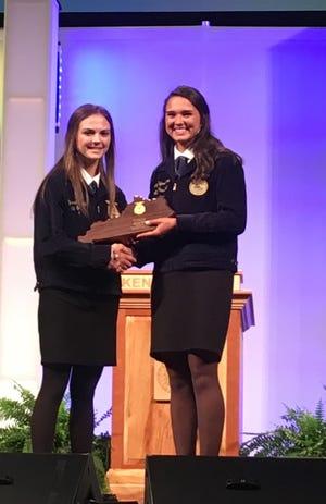 Alyssa Tripp was honored at Murray State University as MSU regional FFA All Stars.
