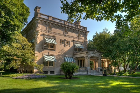 Ruthmere Mansion was built in 1908 and designed by architect E. Hill Turnock.