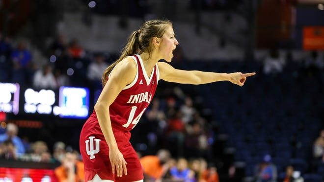 Indiana guard Ali Patberg makes things happen for the Hoosiers offense.