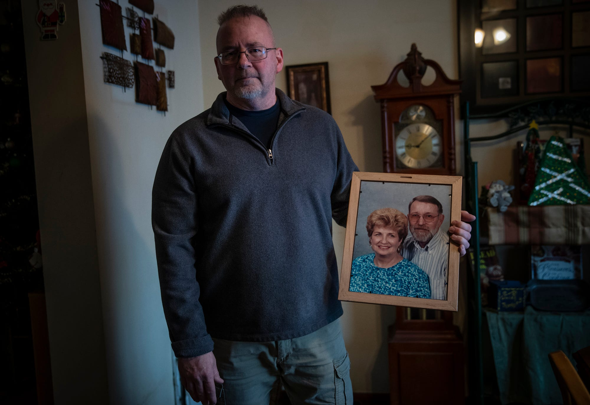 Jay Upton, a Goshen resident and Elkhart corrections officer, insists his mother, Karen Zimmerman, didn't have to die after staying at the Avalon Village nursing home in Ligonier, Ind.