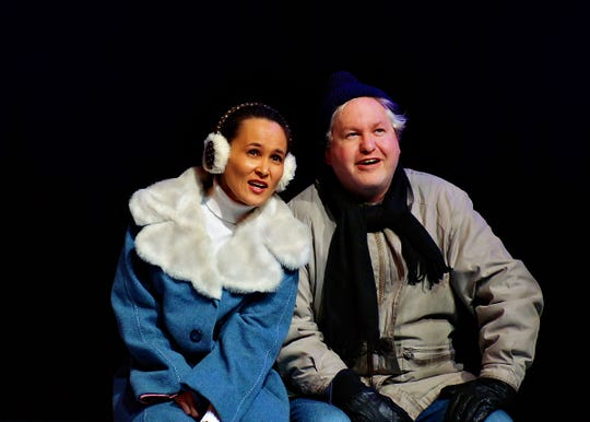 """Production photos from ICCT's 2019 production of """"Almost, Maine."""""""