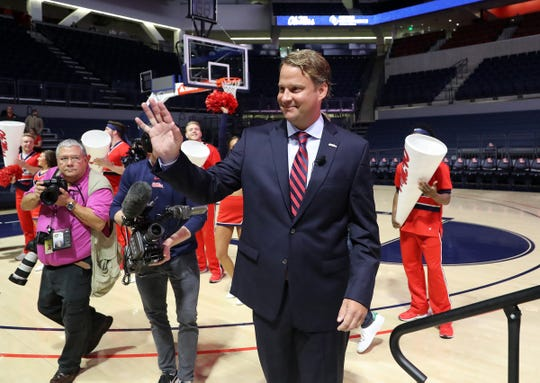 Lane Kiffin was introduced as Ole Miss' football coach on Monday.