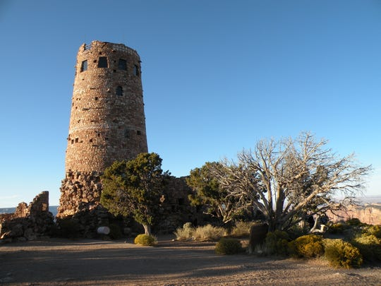 "Desert View Watchtower in Grand Canyon National Park, built in 1932, was designed by Mary Colter who is often referred to as the ""Architect of the Southwest."""