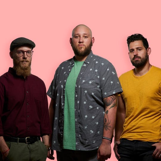 """""""Get familiar, because we certainly plan to be making lots of noise in 2020,"""" drummer and singerGino Vallecillo, center, said of Sailor Mouth's 2020 plans."""