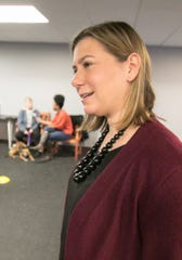 U.S. Rep. Elissa Slotkin talks to the Livingston Daily at Blue Star Service Dogs of Hamburg Monday, Dec. 9, 2019.