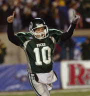 Trinity quarterback Nick Petrino celebrated his 37-yard touchdown run in the fourth quarter. It produced the final points of the game, but not the final drama.