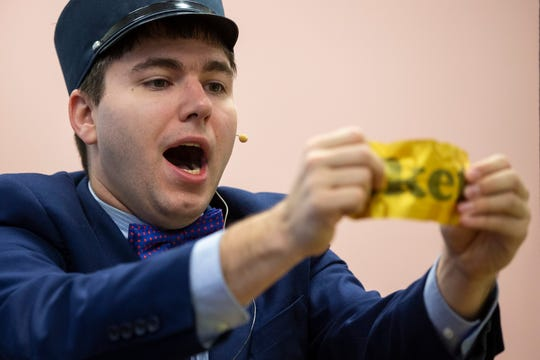 Louisville magician Cody Clark performs a trick where he merges pieces of a ticket back together during his Conductor Cody magic routine. Autism effects motor skills and Clark has found that it has helped him greatly in mastering the coordination to pull off his illusions. Dec. 3, 2019